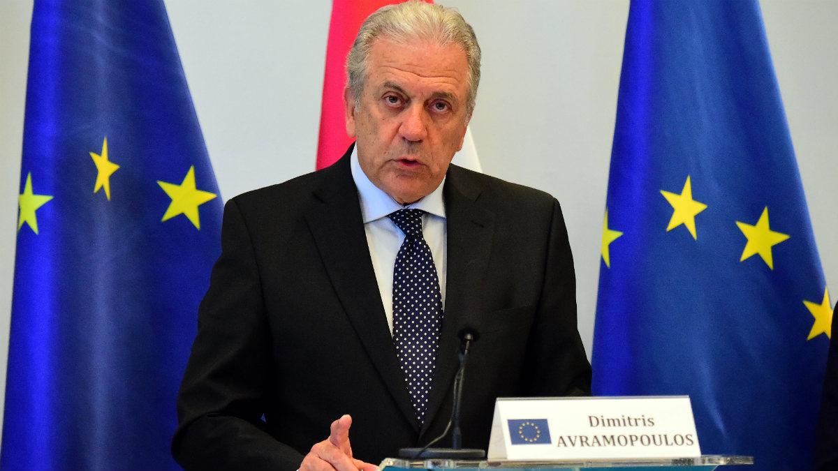 El comisario de Interior e Inmigración, Dimitris Avramopoulos. (AFP)