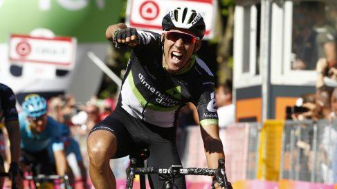 Omar Fraile celebra la victoria. (AFP)