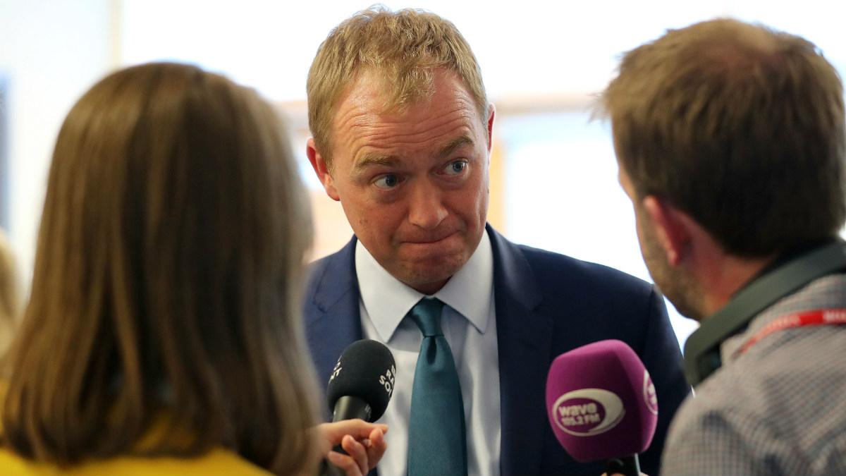 Tim Farron, líder de los liberal demócratas en Reino Unido. (Getty)