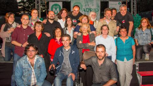 Los miembros de la candidatura de Ahora Madrid en la campaña electoral de 2015. (Foto: Flickr)