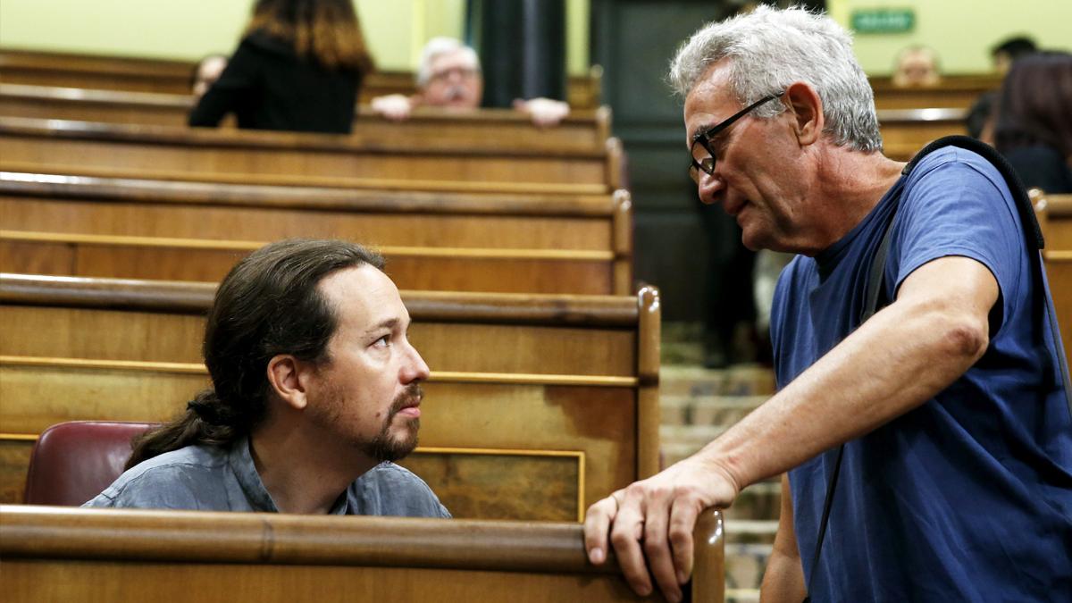 Pablo Iglesias y Diego Cañamero. (Foto: EFE)