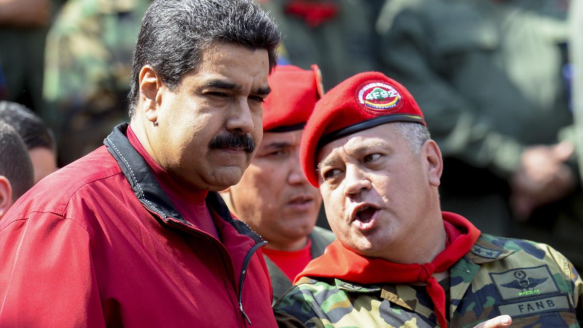 Nicolás Maduro y Diosdado Cabello (Foto: AFP).