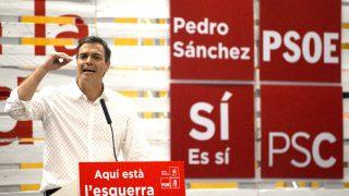 Pedro Sánchez este jueves en un acto en Barcelona (Foto: Efe).