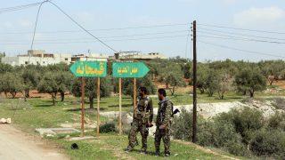 Fuerzas del gobierno cerca de la ciudad de Qumhanah en la provincia central de Hama
