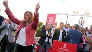 Susana Díaz en un acto este jueves en Valencia (Foto: Efe).