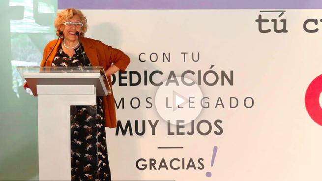 Carmena dice que «desjubilarse para meterse a alcaldesa es un lío, es muy complicado»