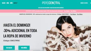 Página web de Percentil.