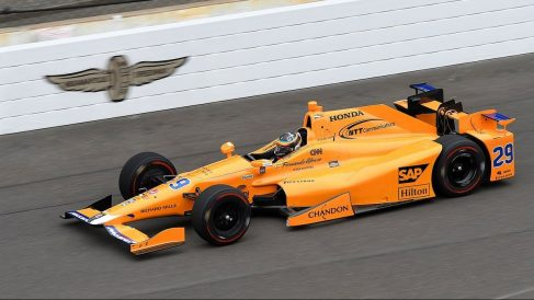 Fernando Alonso en la Indy 500 Getty)