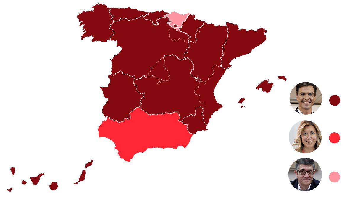 Resultados Primarias PSOE