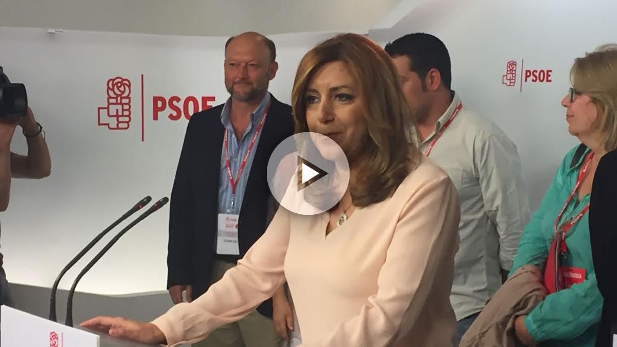 La presidenta de la Junta de Andalucía, Susana Díaz. (Foto y vídeo: Francisco Toledo y Enrique Falcón)
