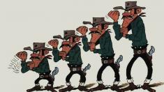 Los hermanos Dalton, personajes de las historietas de Lucky Luke.
