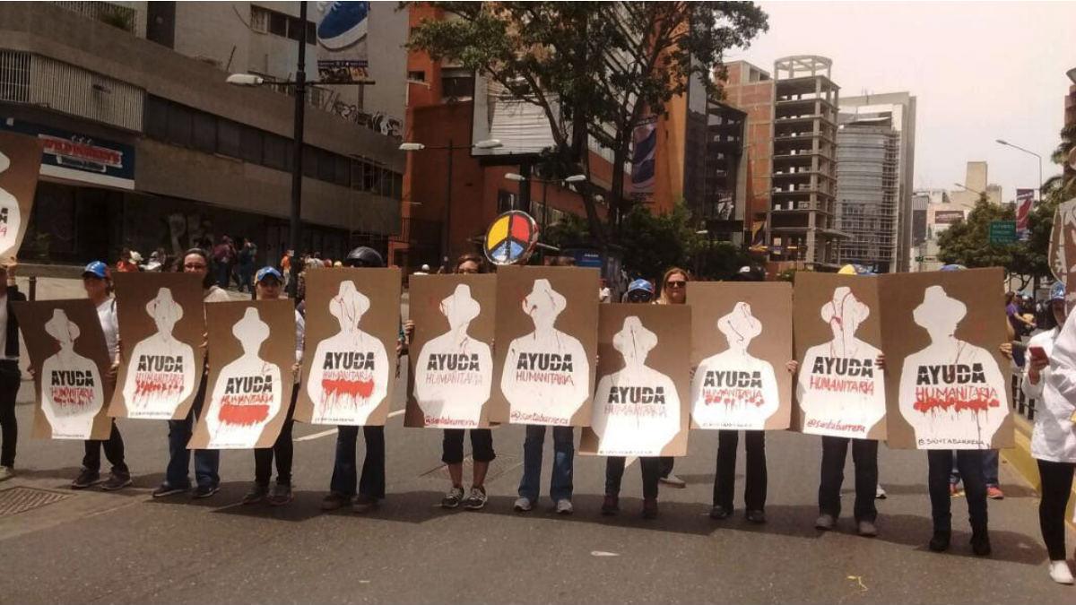 Los médicos toman las calles por la «catastrófica»  situación de la Sanidad en la Venezuela de Maduro.