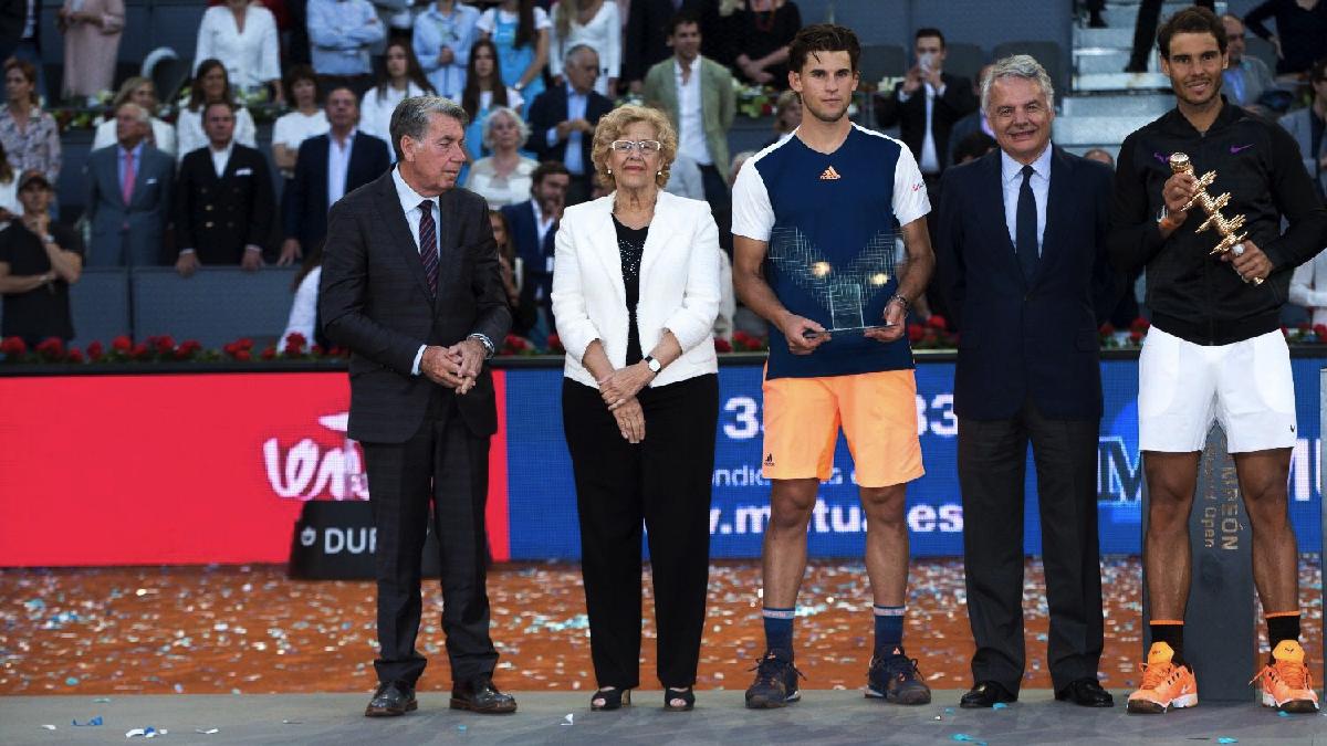 La alcaldesa en el Open. (Foto: Madrid)