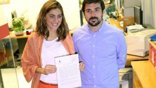 Ramón Espinar y Lorena Ruiz-Huerta (EFE).
