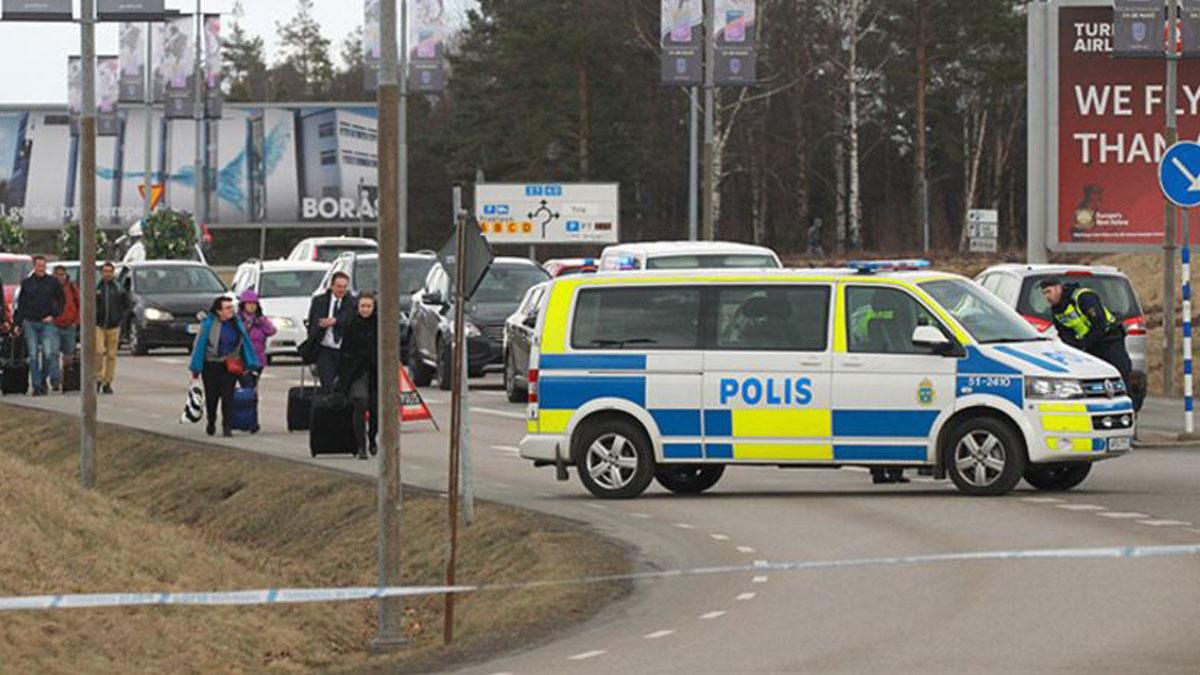 Evacuación en el aeropuerto de Gotemburgo.