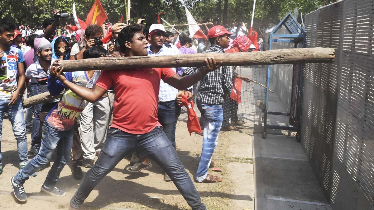 Protestas en la India (Foto: AFP)