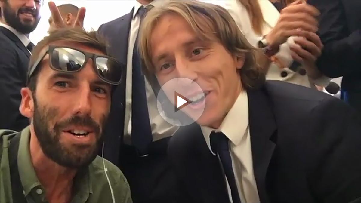 Álvaro Ojeda y Luka Modric