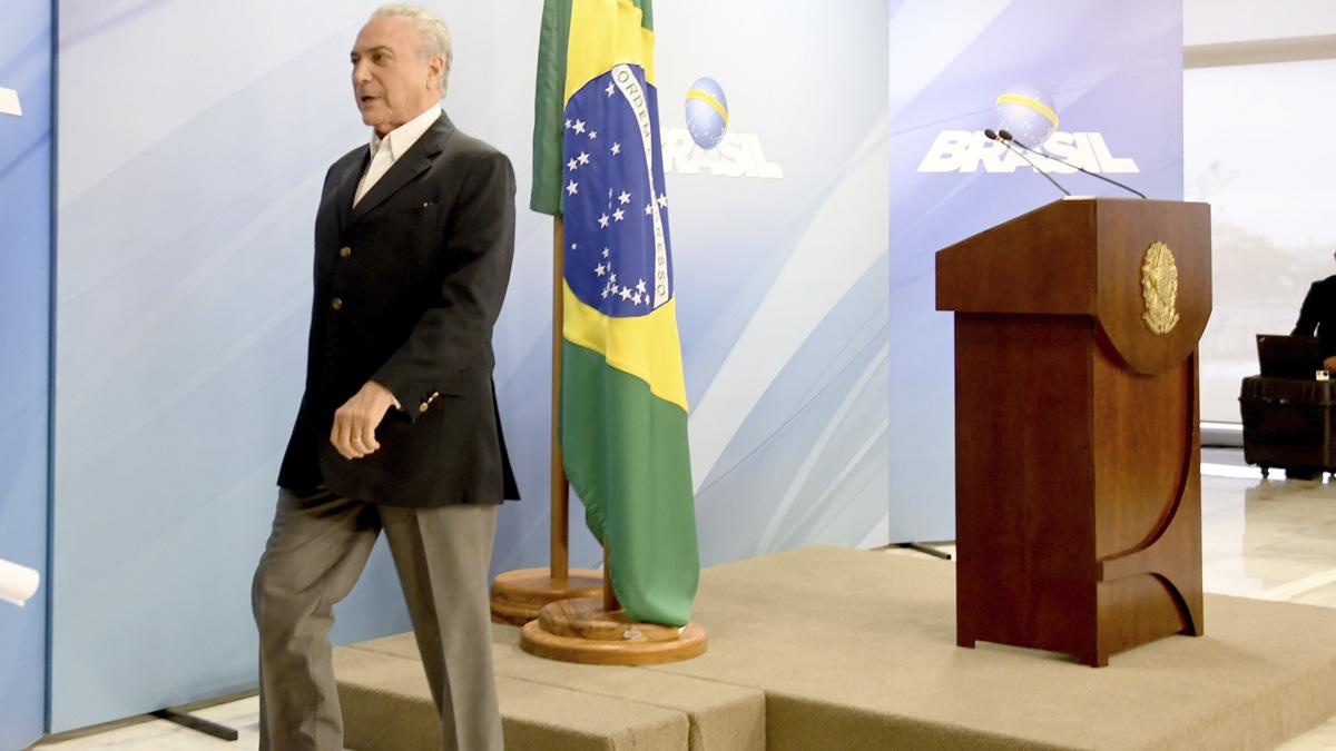 Michel Temer, presidente de Brasil (Foto: AFP)