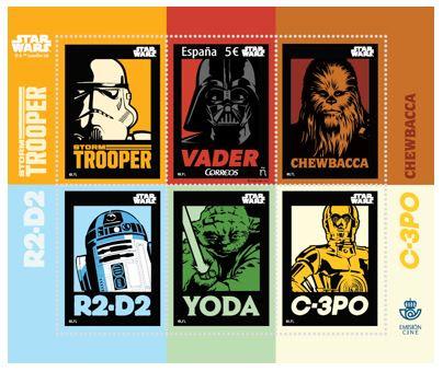Así son los sellos conmemorativos de Star Wars.