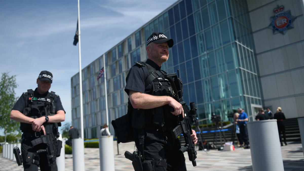 Despliegue policial en Manchester tras el atentado (Foto:AFP)