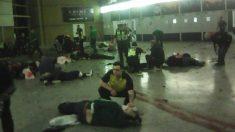 Uno de los accesos del Manchester Arena tras la explosión.