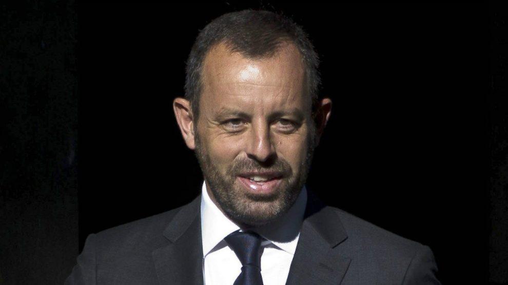 Sandro Rosell, ex presidente del FC Barcelona, en una imagen antes de ingresar en prisión. (EFE)