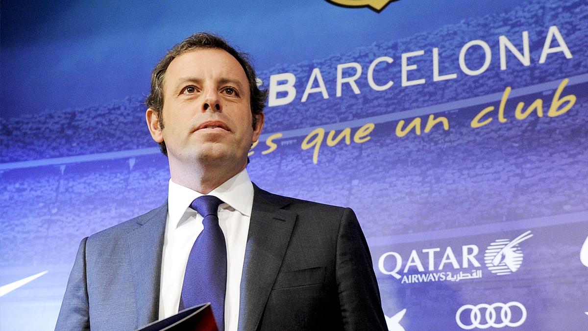 Sandro Rosell durante su etapa como presidente del Barcelona. (Foto: AFP)