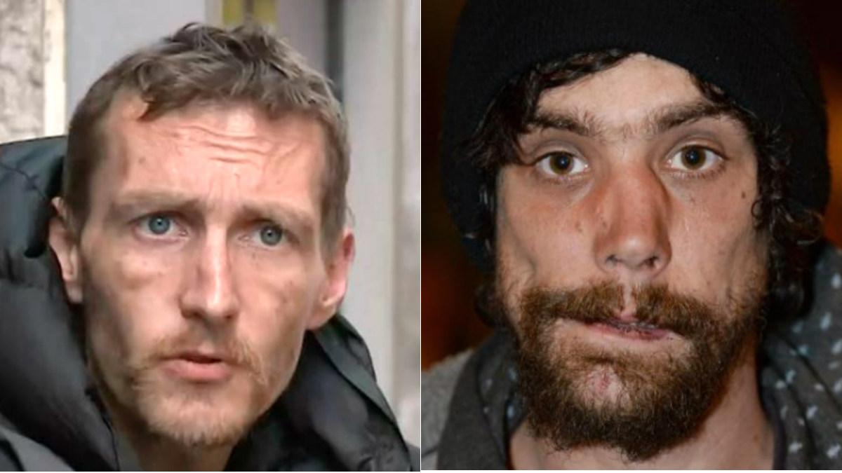 Los mendigos Stephen Jones y Chris Parker, héroes de Mánchester tras el atentado.