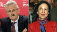 El portavoz de Interior del PSOE en el Congreso, Antonio Trevín, y la diputada socialista Margarita Robles.