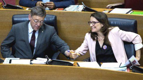El president de la Generalitat, Ximo Puig, y la vicepresidenta del Consell, Mónica Oltra (Foto: Efe)