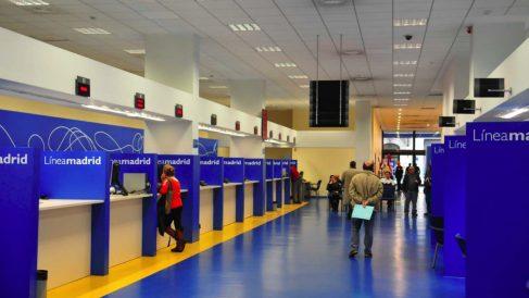 Oficina del Línea Madrid. (Foto: Madrid)