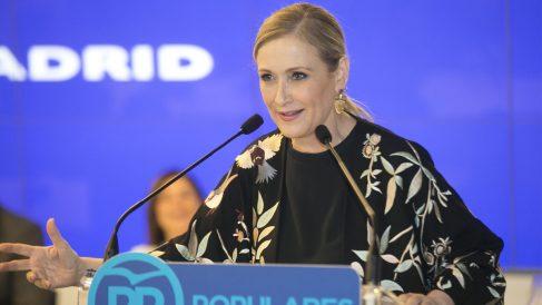 Cristina Cifuentes durante el comité ejecutivo del PP de Madrid.