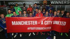 United y City se solidarizan con las víctimas del atentado de Mánchester. (ManUtd)