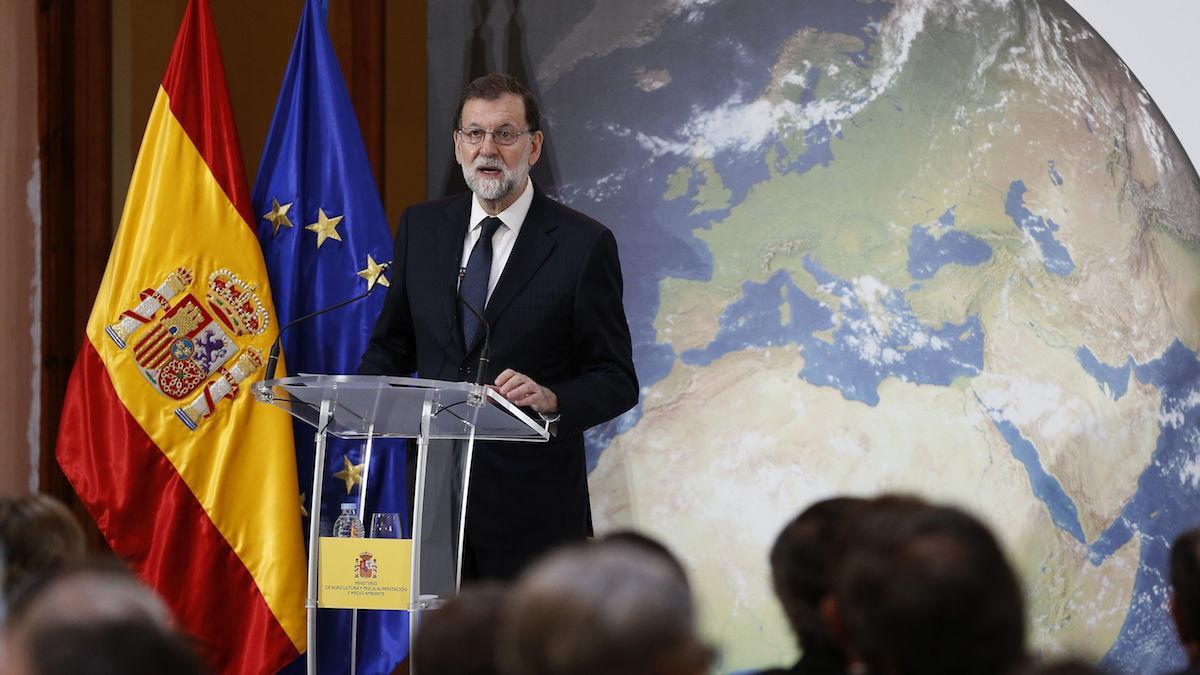 El presidente del Gobierno,Mariano Rajoy, durante su intervención en  las jornadas «España, juntos por el clima». (Foto: EFE)