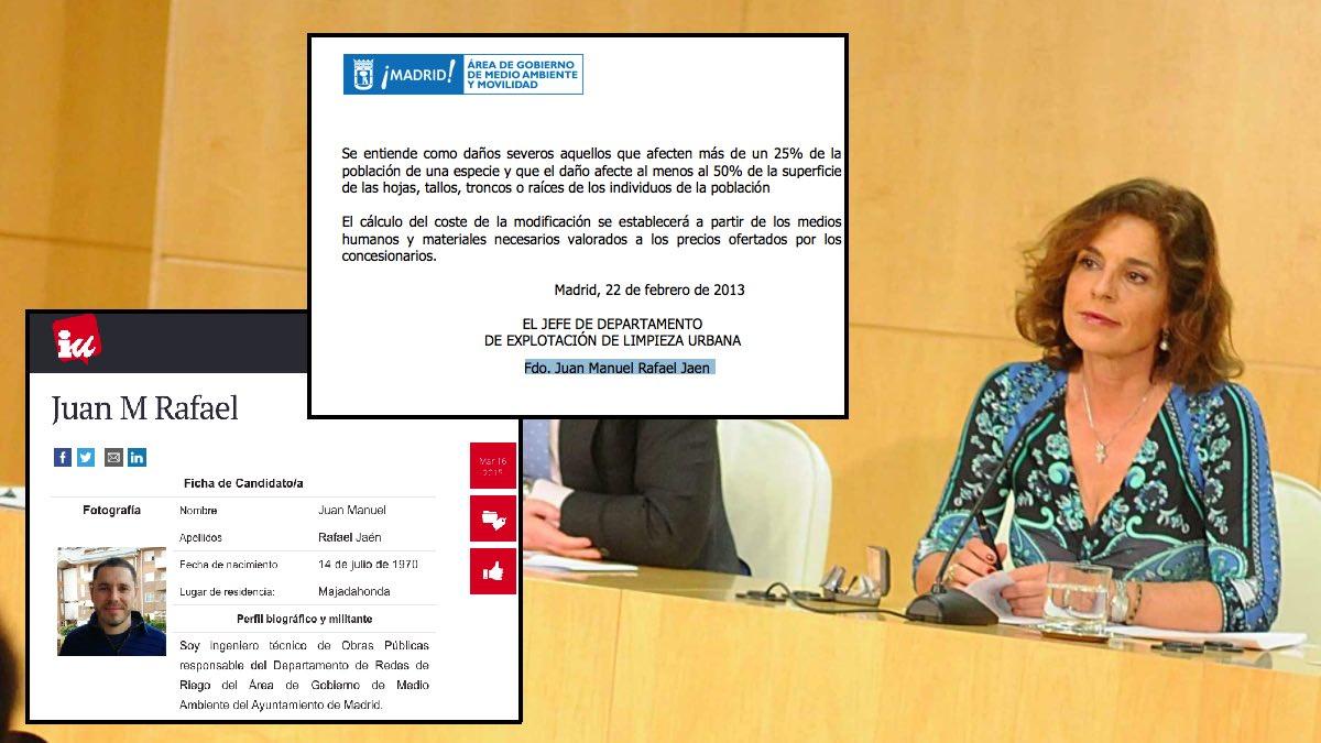 Ana Botella en abril de 2013 presentando la licitación de los contratos integrales. (Foto: Madrid)