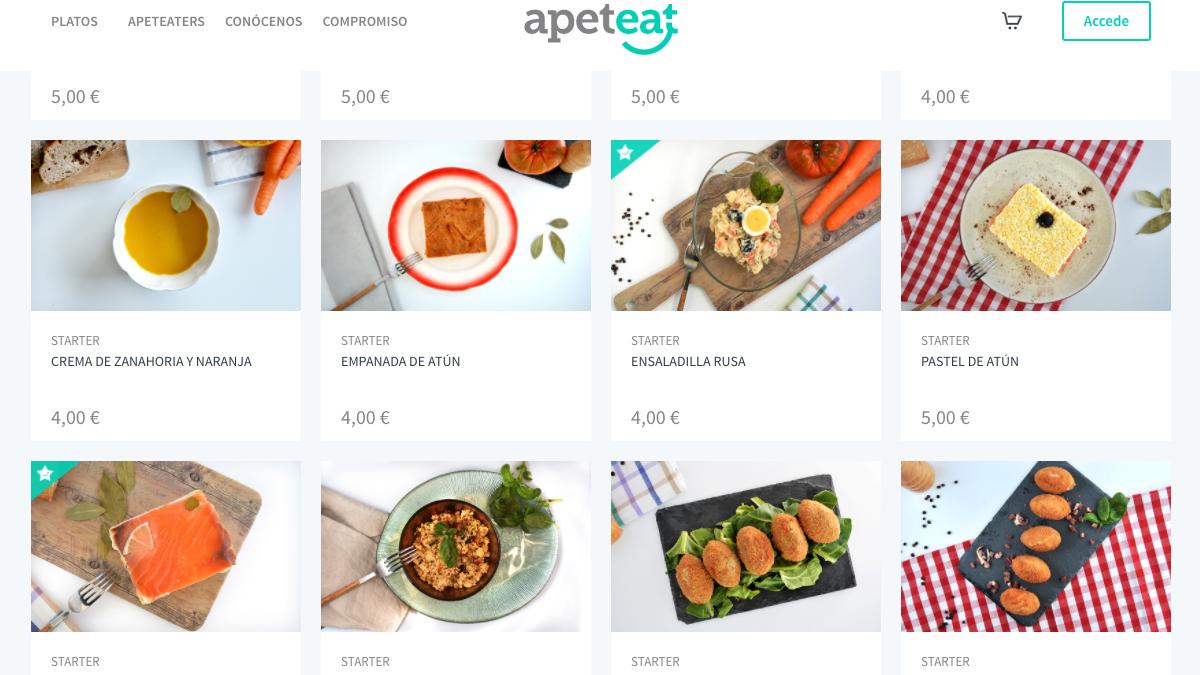 Página web de Apeteat (Foto:Apeteat)