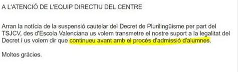 Una entidad pagada por Puigdemont presiona a colegios para imponer la dictadura lingüística de Puig
