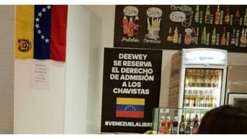Cartel del restaurante Deeway (Twitter).