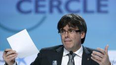 Carles Puigdemont, en las jornadas del Círculo de Economía en Sitges. (EFE)