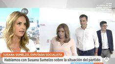 La diputada del PSOE en el Congreso, Susana Sumelzo, en 'Espejo Público' (Foto: Antena 3)