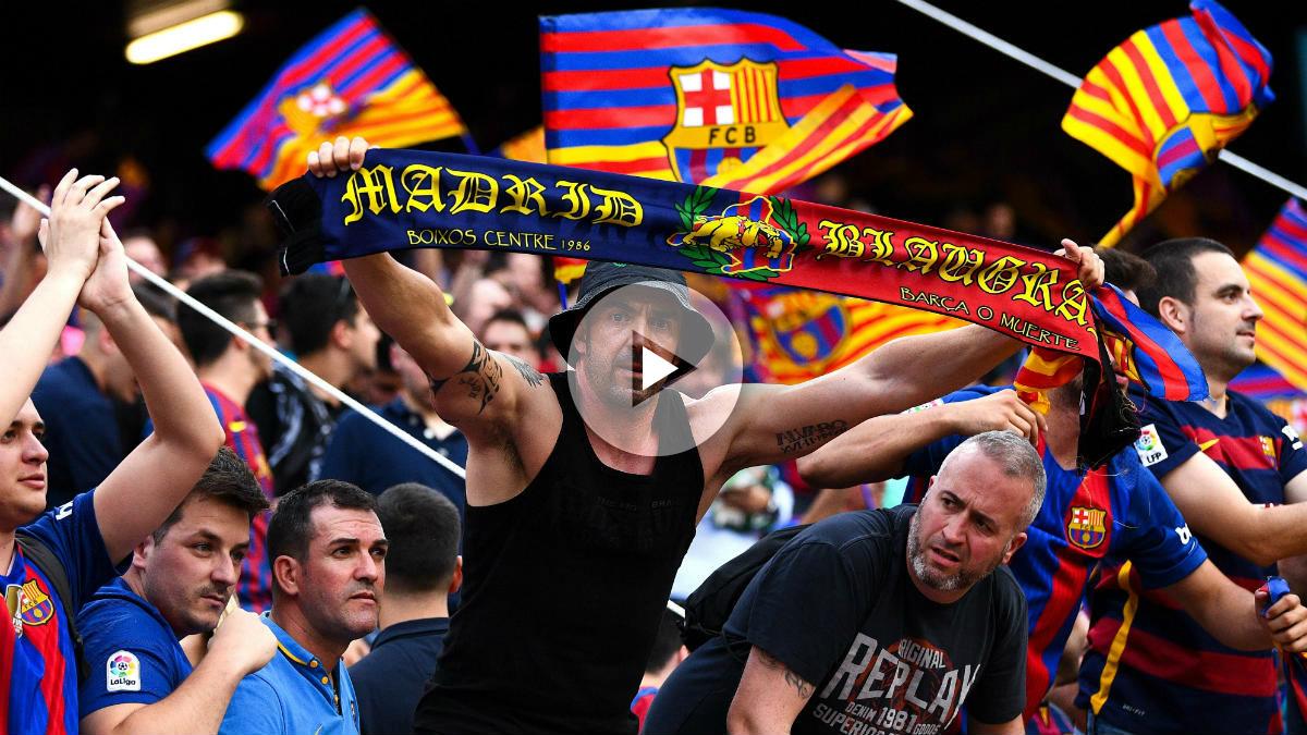 La afición del Barcelona volvió a dar la nota en el VIcente Calderón.