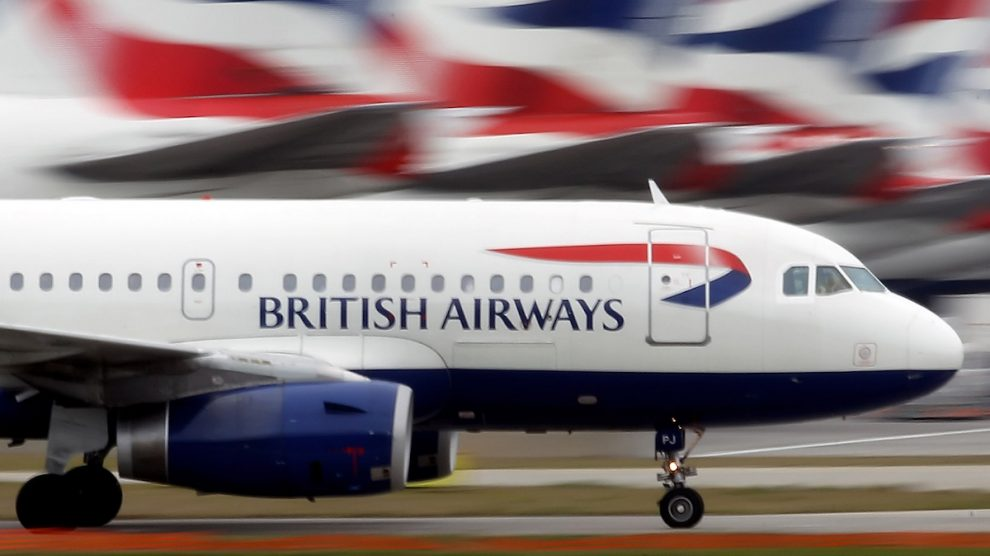 Avión de British Airways. (Foto: Getty)