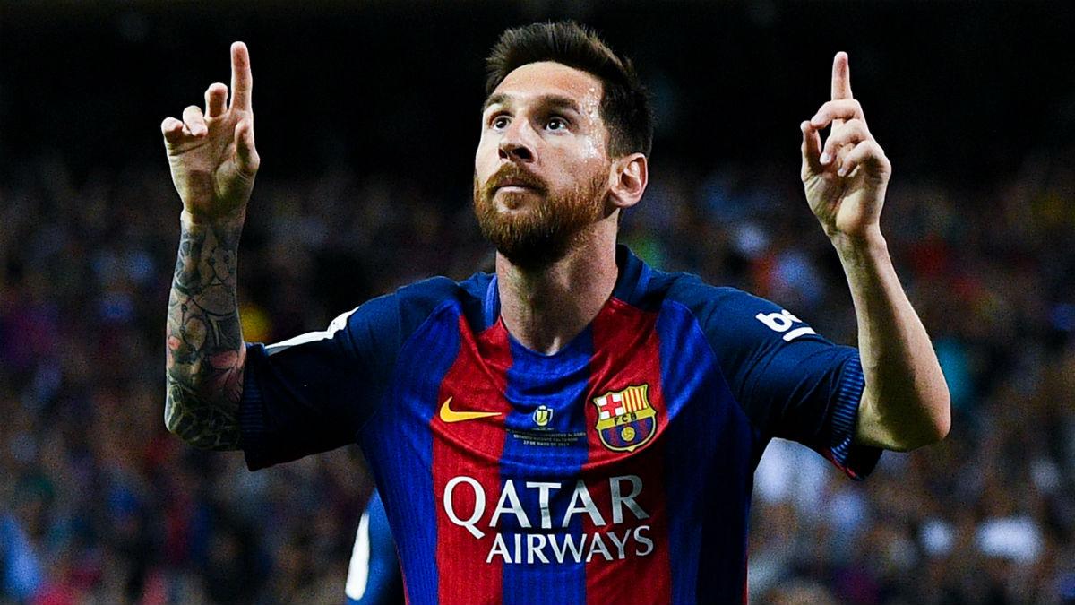 Messi celebra el 1-0. (Getty)
