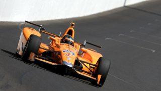 Fernando Alonso, en las 500 millas de Indianapolis. (Getty)