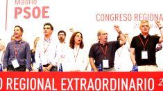 Sara Hernández y otros miembros del PSOE-M en el Congreso (Foto: Efe).