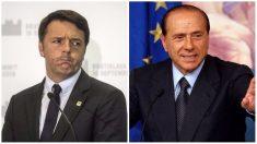 Matteo Renzi y Silvio Berlusconi