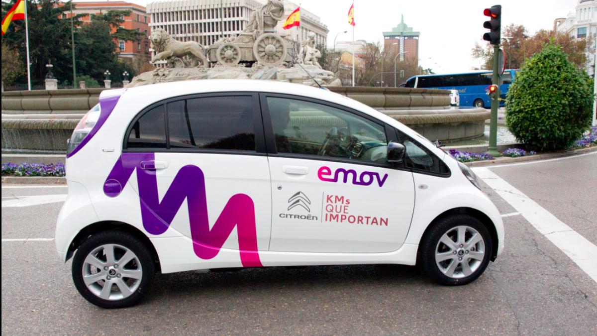 Uno de los coches de Emov en Madrid (Foto. Peugeot)