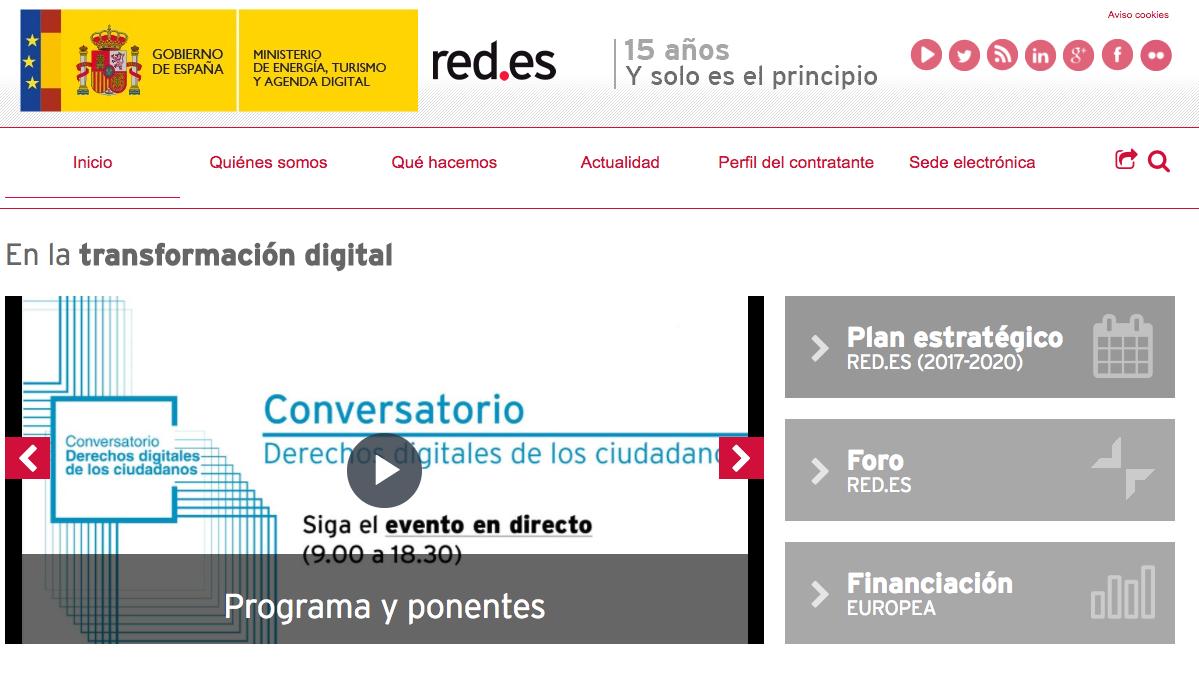 Portal Red.es.
