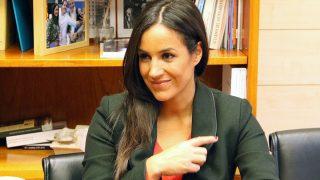 Begoña Villacís, en su despacho. (Foto: Enrique Falcón)