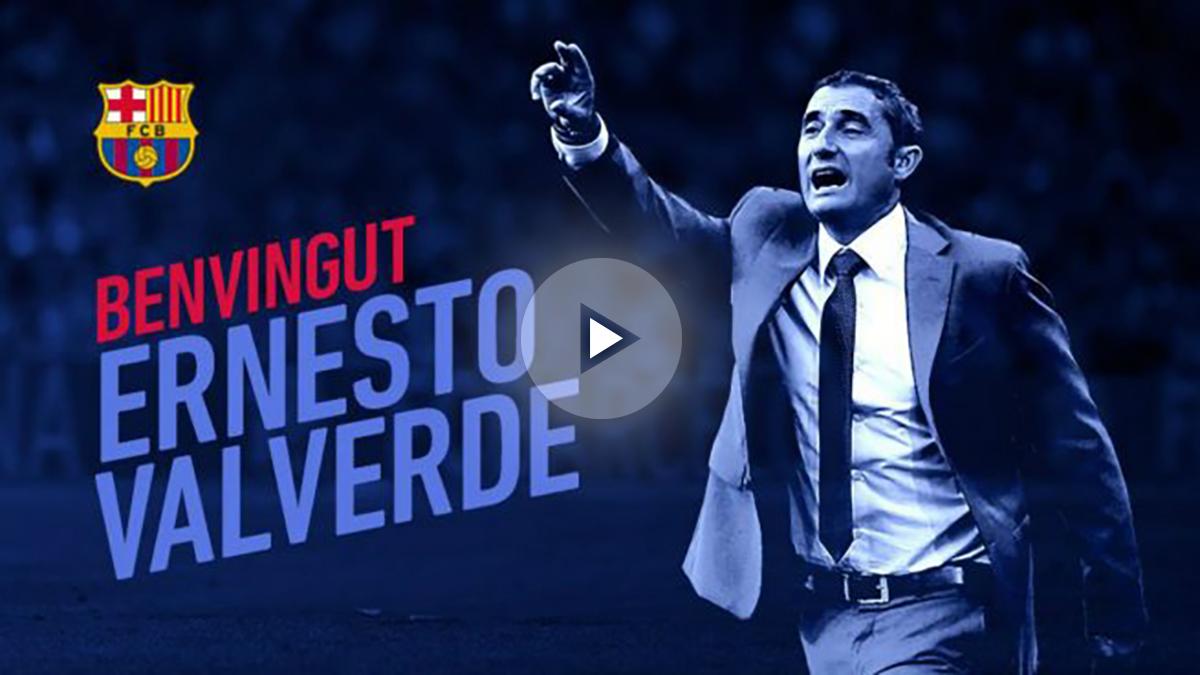 Ernesto Valverde ya es nuevo entrenador del Barcelona. (fcbarcelona)